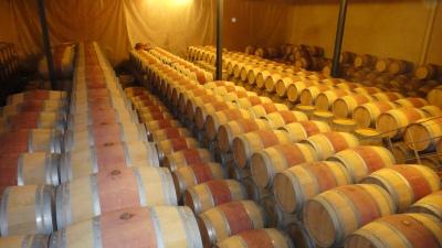 Barris de carvalho para envelhecimento após a fermentação