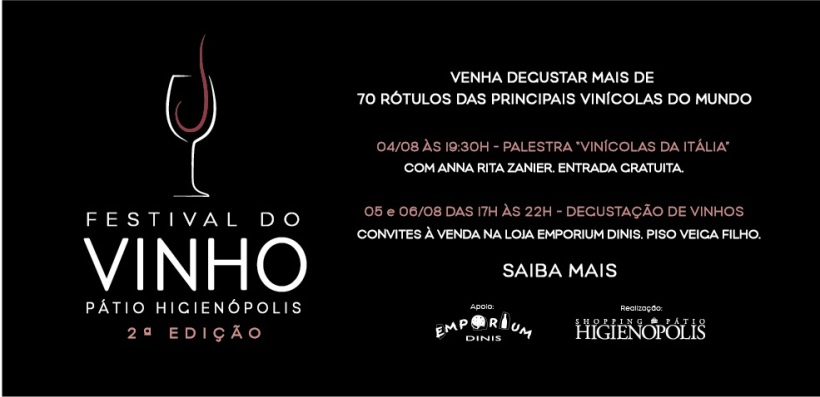 II Festival do Vinho Patio Higienopolis